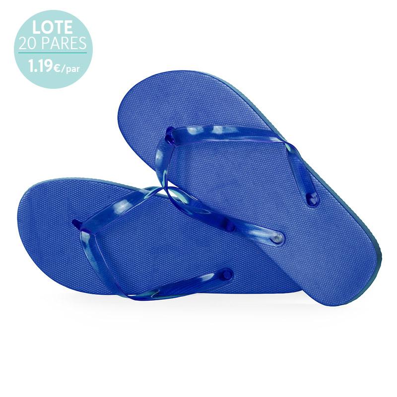 Sandalias para mujer. Lote 20 pares. Azul. 1.19€/par