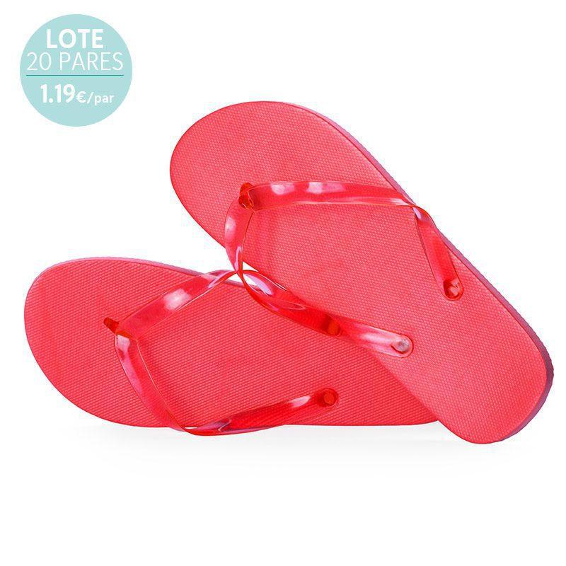 Sandalias para mujer. Lote 20 pares. Rojas. 1.19€/par