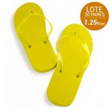 Sandalias de boda, lote de 20 unidades. Mujer. Color amarillo.
