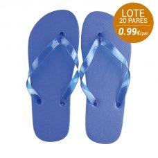 Lote de 20 pares de sandalias de mujer para boda en color azul claro.