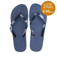Lote de 20 pares de sandalias de mujer para boda en color azul marino.
