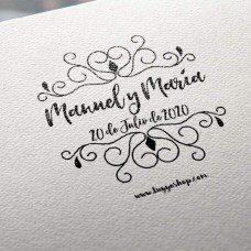 sello para boda personalizado modelo forja