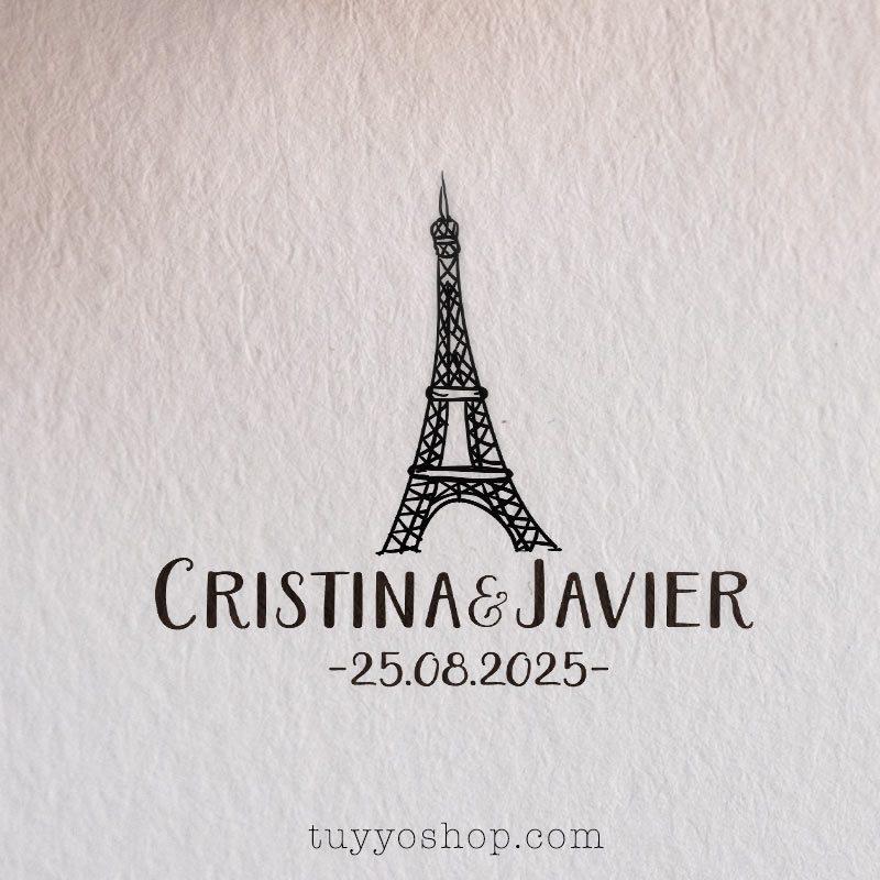 Sello de boda modelo Torre Eiffel sellos para boda modelo eiffel