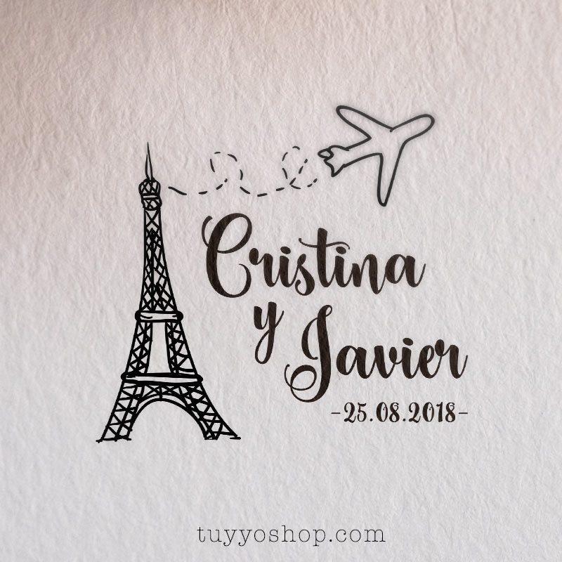 Sello de boda modelo París sellos para boda modelo paris