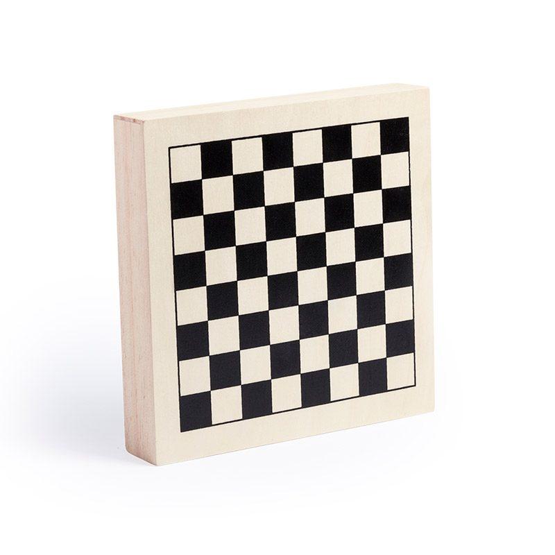 Set de 4 juegos en madera. 16x16cm. set 4 juegos madera boda 3