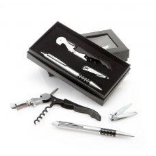 Set de bolígrafo con abridor y cortauñas