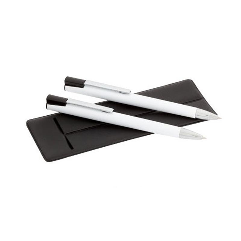 Set bolígrafo y portaminas para bodas en funda elegante