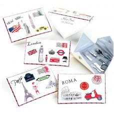 set de manicura para boda diseño carta.