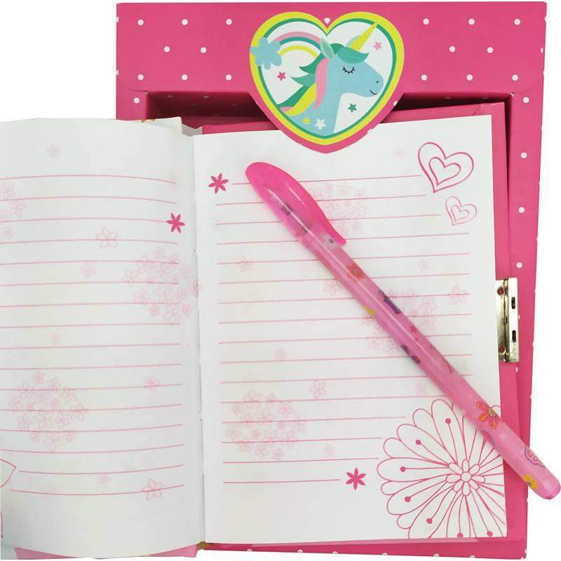 Conjunto unicornio. Diario y bolígrafo presentado en caja set de regalo diario y boligrafo buhos 1