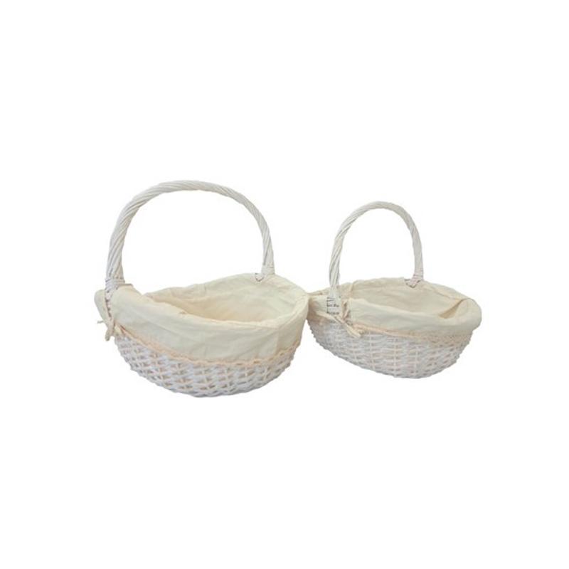 Set dos cestas ovaladas para bodas