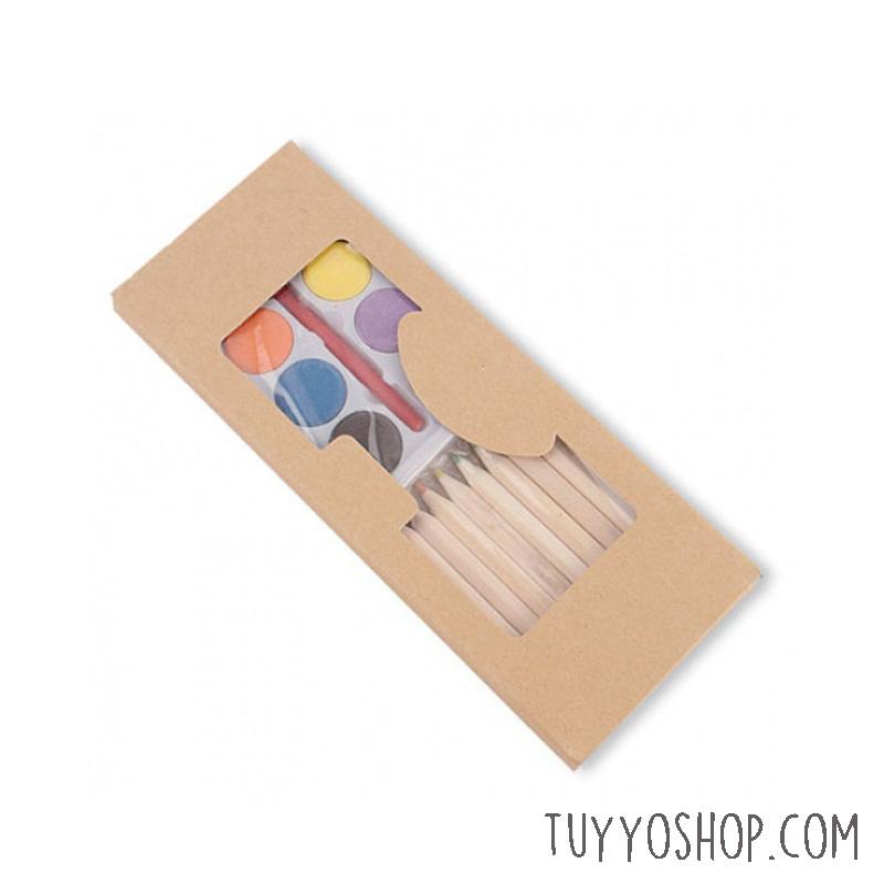 Set lápices de colores más acuarelas