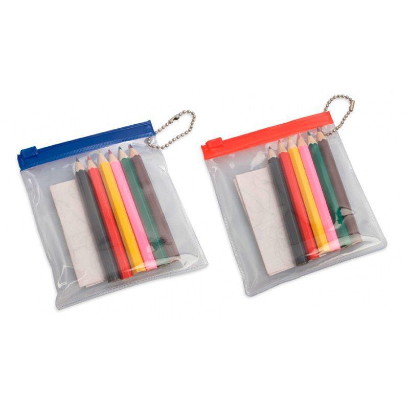 Set lápices de colores más dibujo en bolsita de pvc