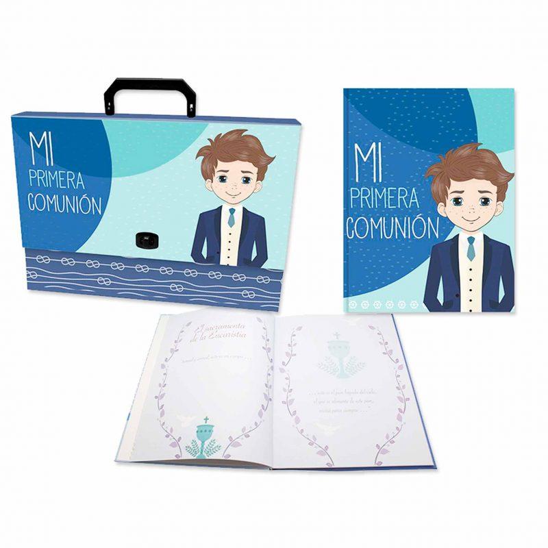 Set maletín y libro de recuerdos de comunión. 32x24,5cm. set maletin y libro de recuerdos de comunion 32x245cm