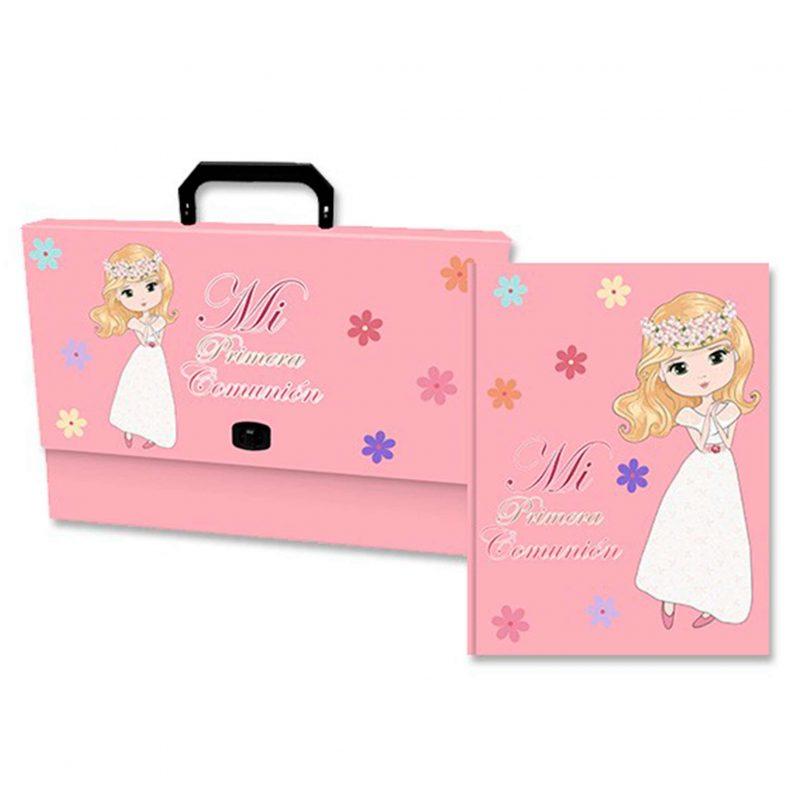 Set maletín y libro de recuerdos de comunión chica. 32x24,5cm. set maletin y libro de recuerdos de comunion chica 32x245cm