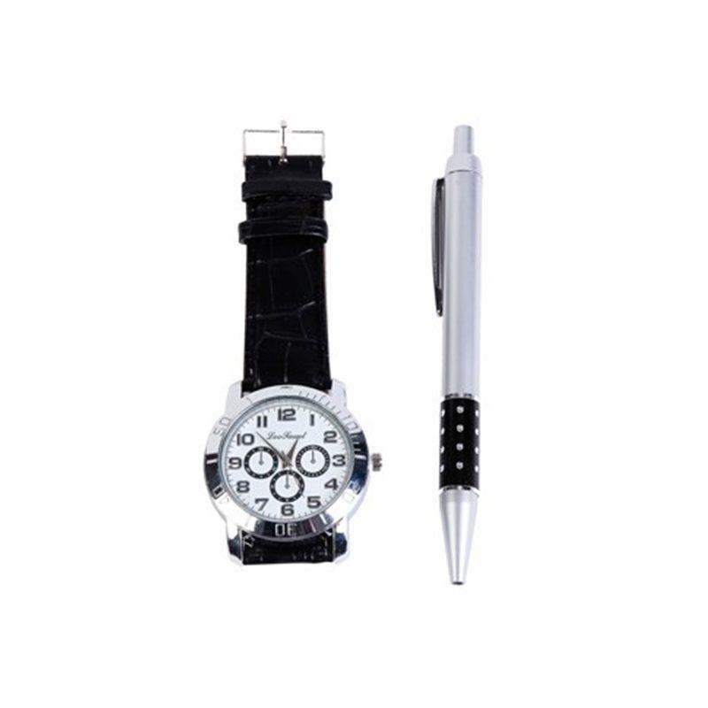 Set para hombre. Reloj y bolígrafo en caja