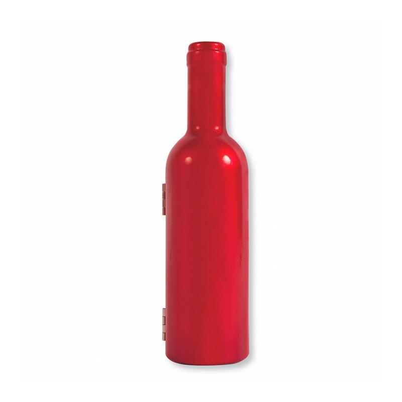 Set de vino premium en forma de botella. 3 piezas. 2 colores.