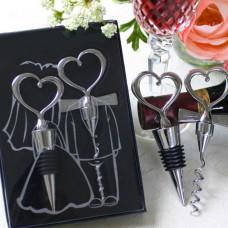 Set de vino unión de corazones