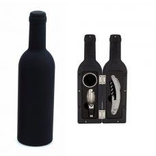 Set para vino. 3 piezas. Color negro