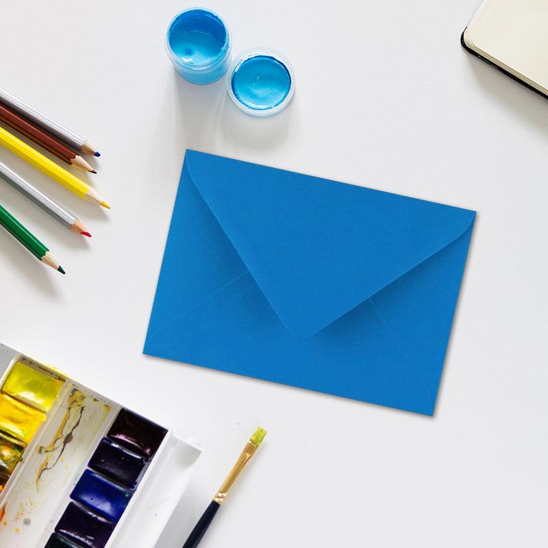 Sobres para invitaciones de comunión en color azul