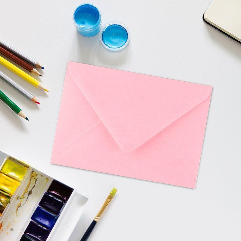 Sobres para invitaciones de comunión en color rosa