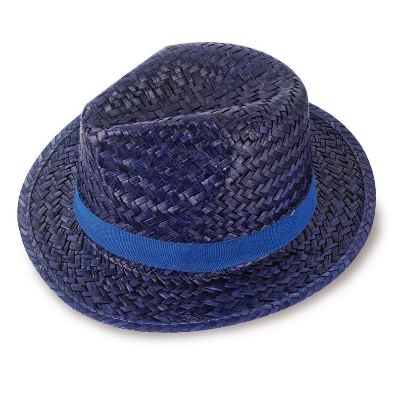 sombrero paja capo azul