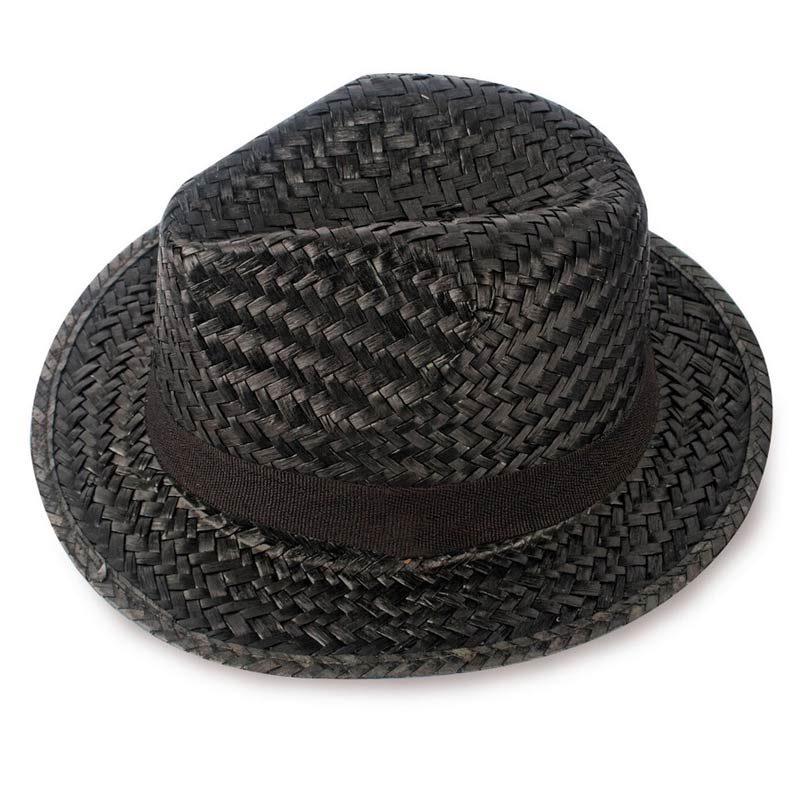 sombrero de paja modelo capo en color negro