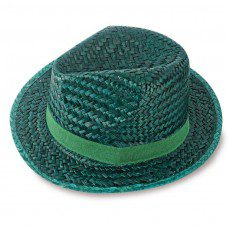 sombrero de paja modelo capo en color verde