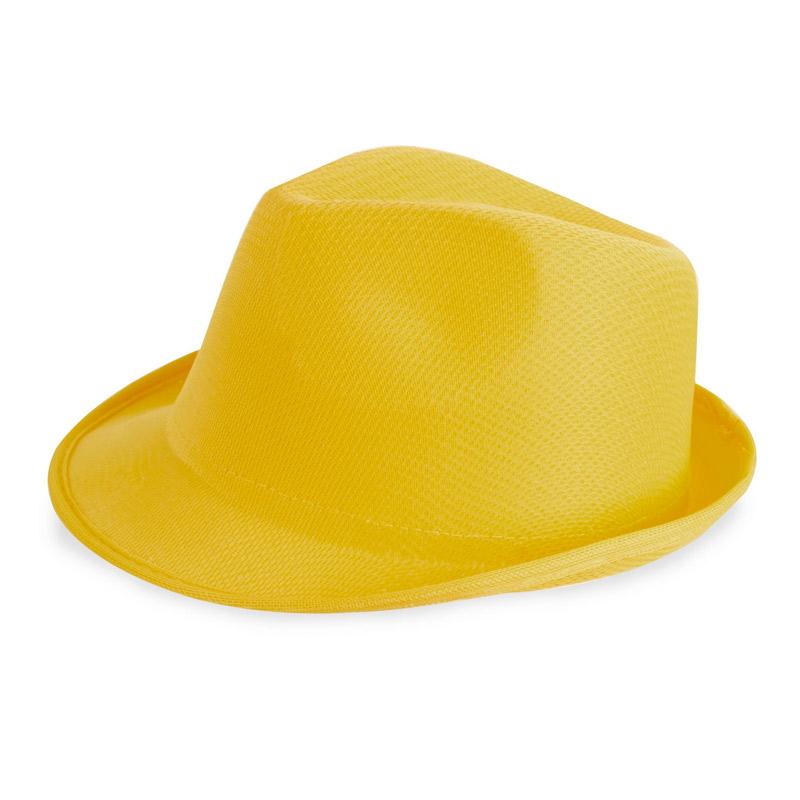 sombrero para photocall amarillo