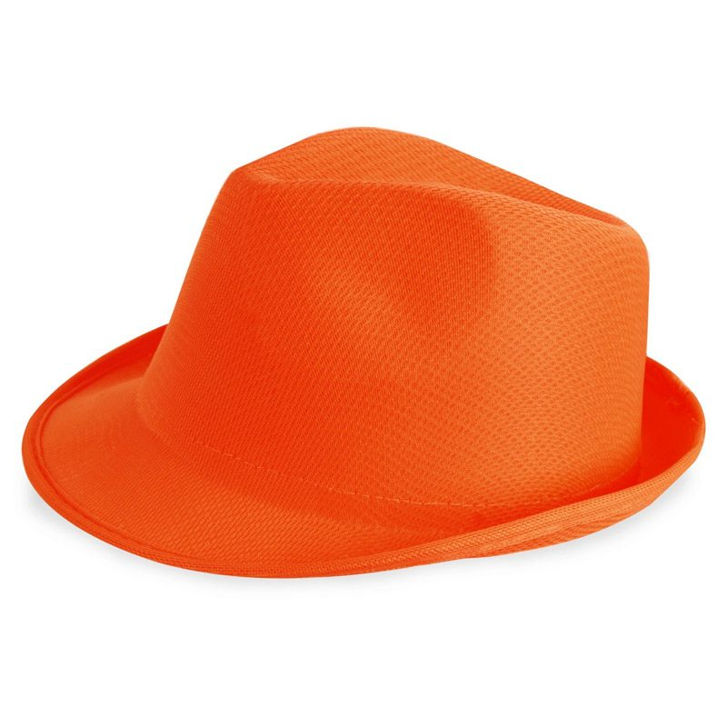 sombrero para photocall en color naranja