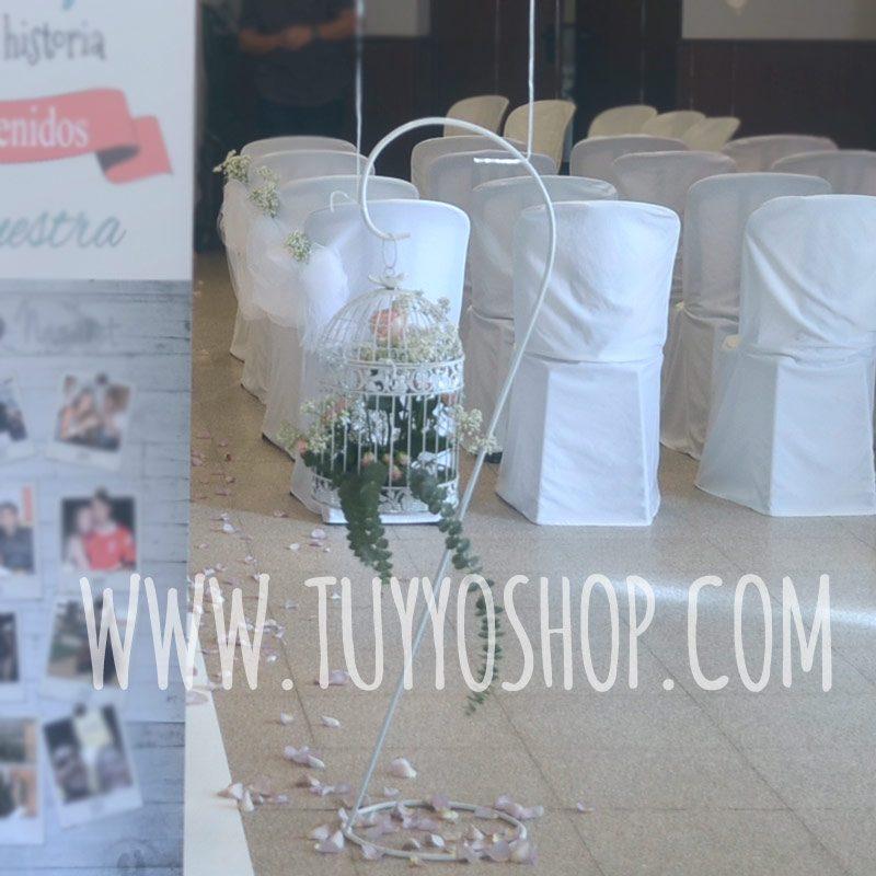 Alquiler para bodas de soporte de forja para jaulas o similar