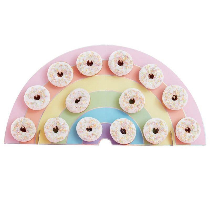 Soporte para donuts. Modelo Arcoiris. 14 donuts. tabla para donuts rainbow 3