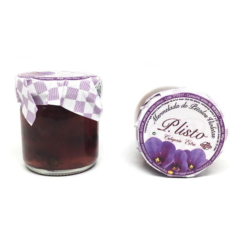 Tarro de mermelada Pétalos de violeta