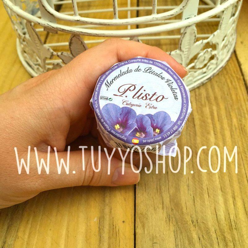 Tarro mermelada petalos violeta