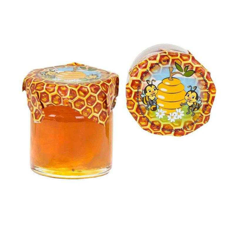 Tarro de miel para bodas. 40gr. Cristal.