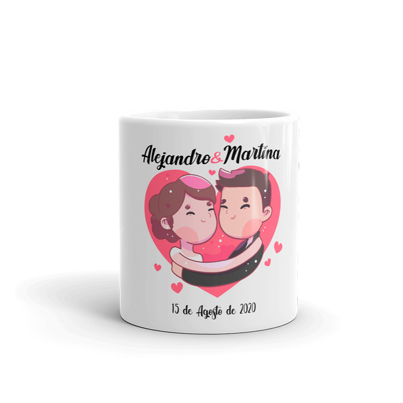 Tazas personalizadas para boda