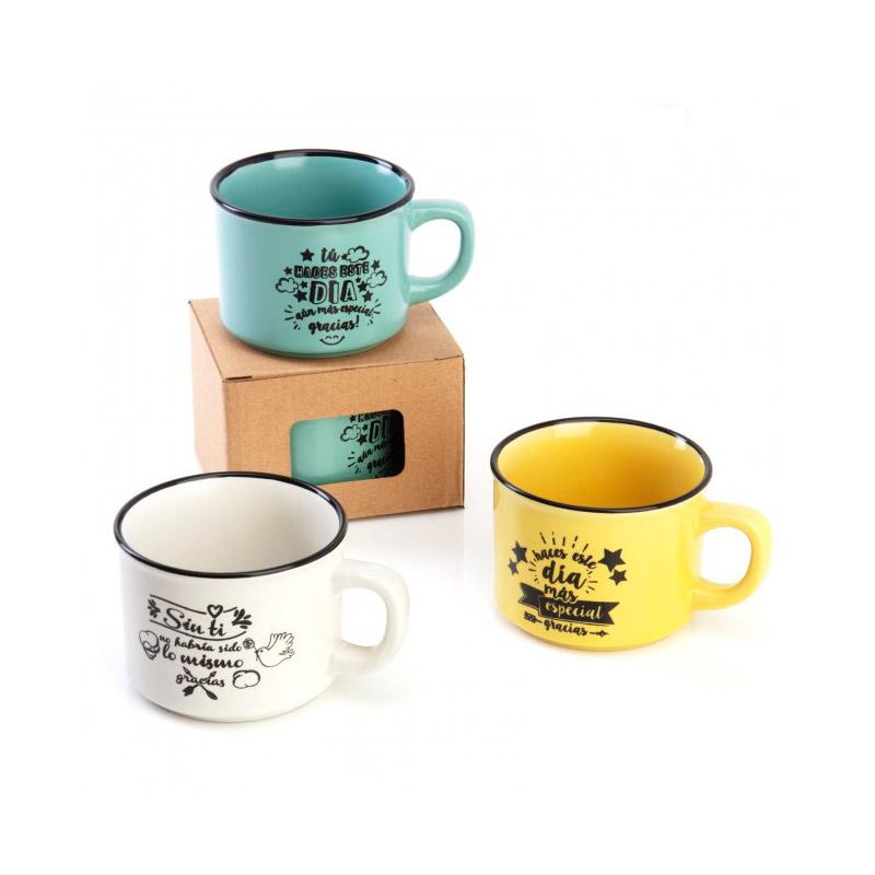 Taza de café para invitados. Un día especial. 3 colores.
