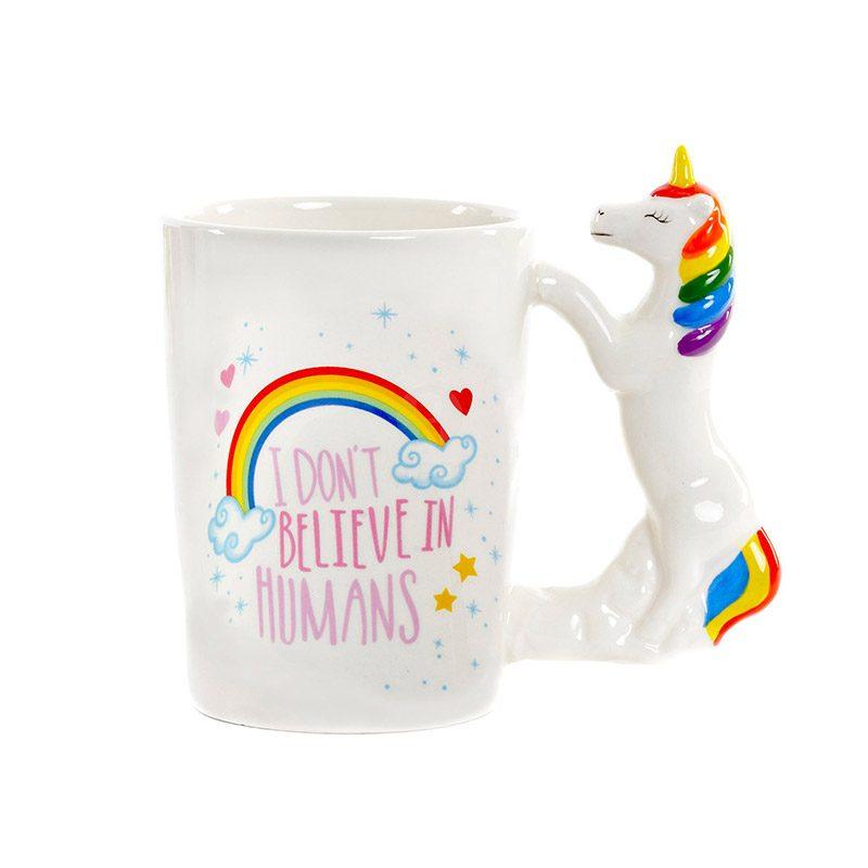 Taza para regalo. Asa de unicornio.