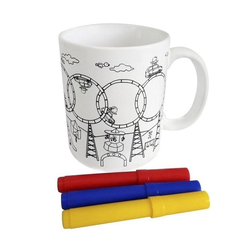 taza infantil para colorear