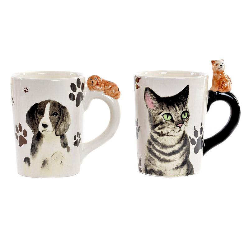 Mug para eventos. Diseño perro y gato. Surtidas.