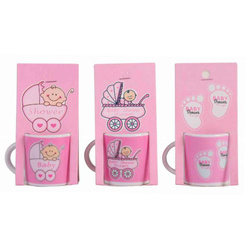 Bautizo taza para cafe solo nina bautizo presentado en blister de carton a juego