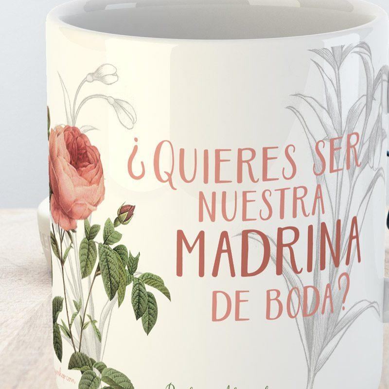 taza para madrinas de boda