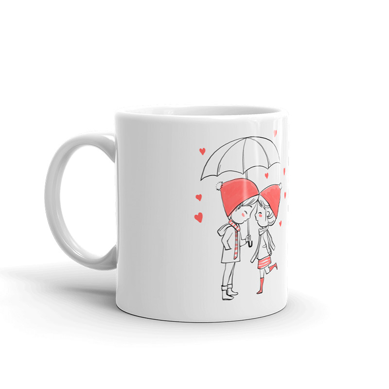 Taza de boda para invitados. Personalizada. Modelo paraguas