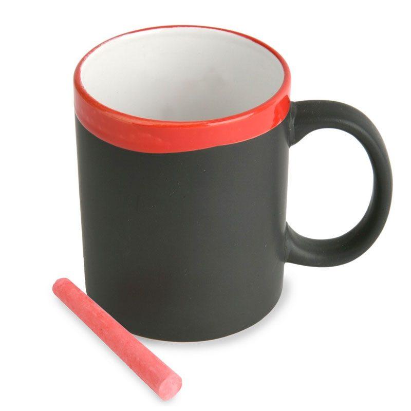 taza pizarra en color rojo