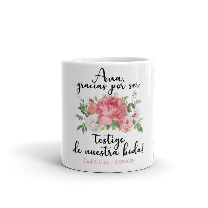 Taza de cerámica para testigos de boda. Modelo bouquet taza testigos de boda bouquet2