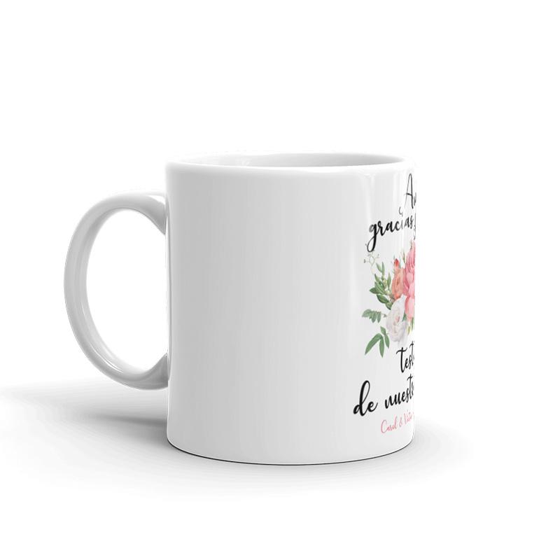 Taza de cerámica para testigos de boda. Modelo bouquet taza testigos de boda bouquet3