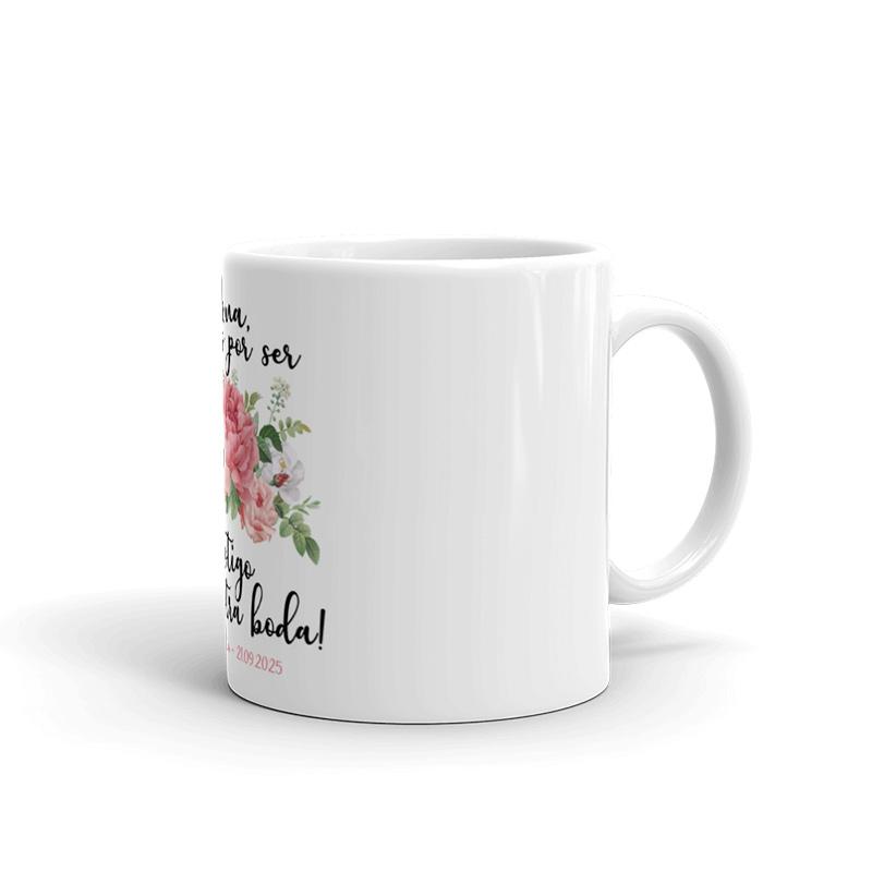 Taza de cerámica para testigos de boda. Modelo bouquet taza testigos de boda bouquet4