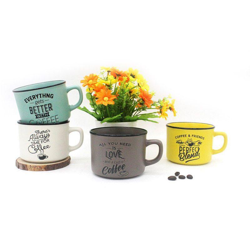 taza modelo time for cofefee en 4 colores y modelos diferentes