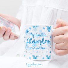 Tazas personalizadas para bautizo