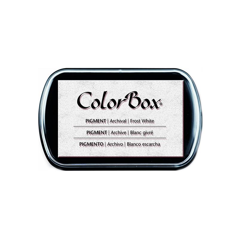 Tinta para sellos Colorbox en color blanco. Premium.