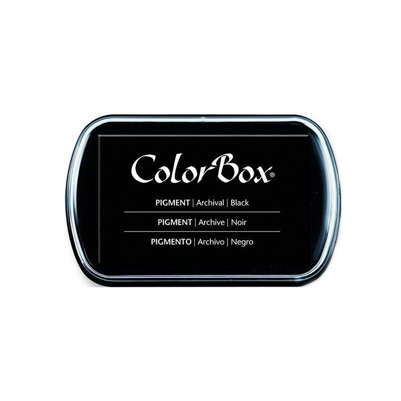 tampón para sellos de la marca ColorBox en color negro.